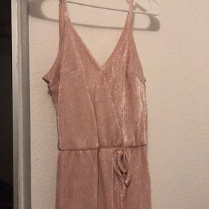 Pink shimmery cocktail dress